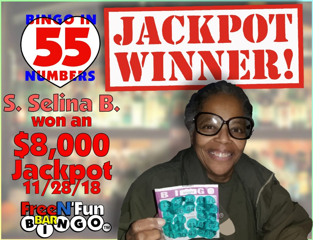 Jackpot Winner 2018 S. Selina Brown