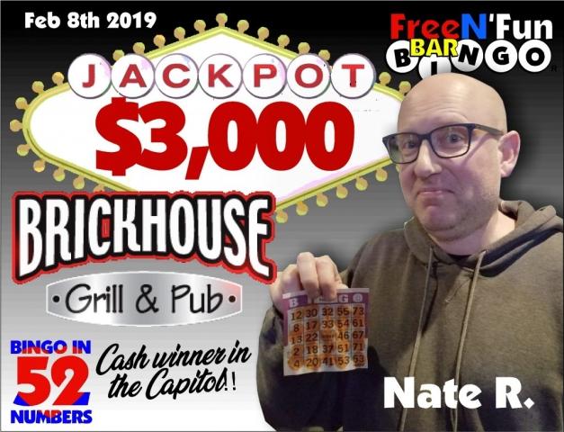 Jackpot Winner 2019 Nate