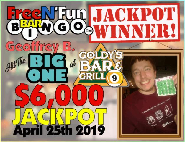 Jackpot Winner 2019 Geoffrey