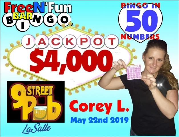 Jackpot Winner 2019 Corey