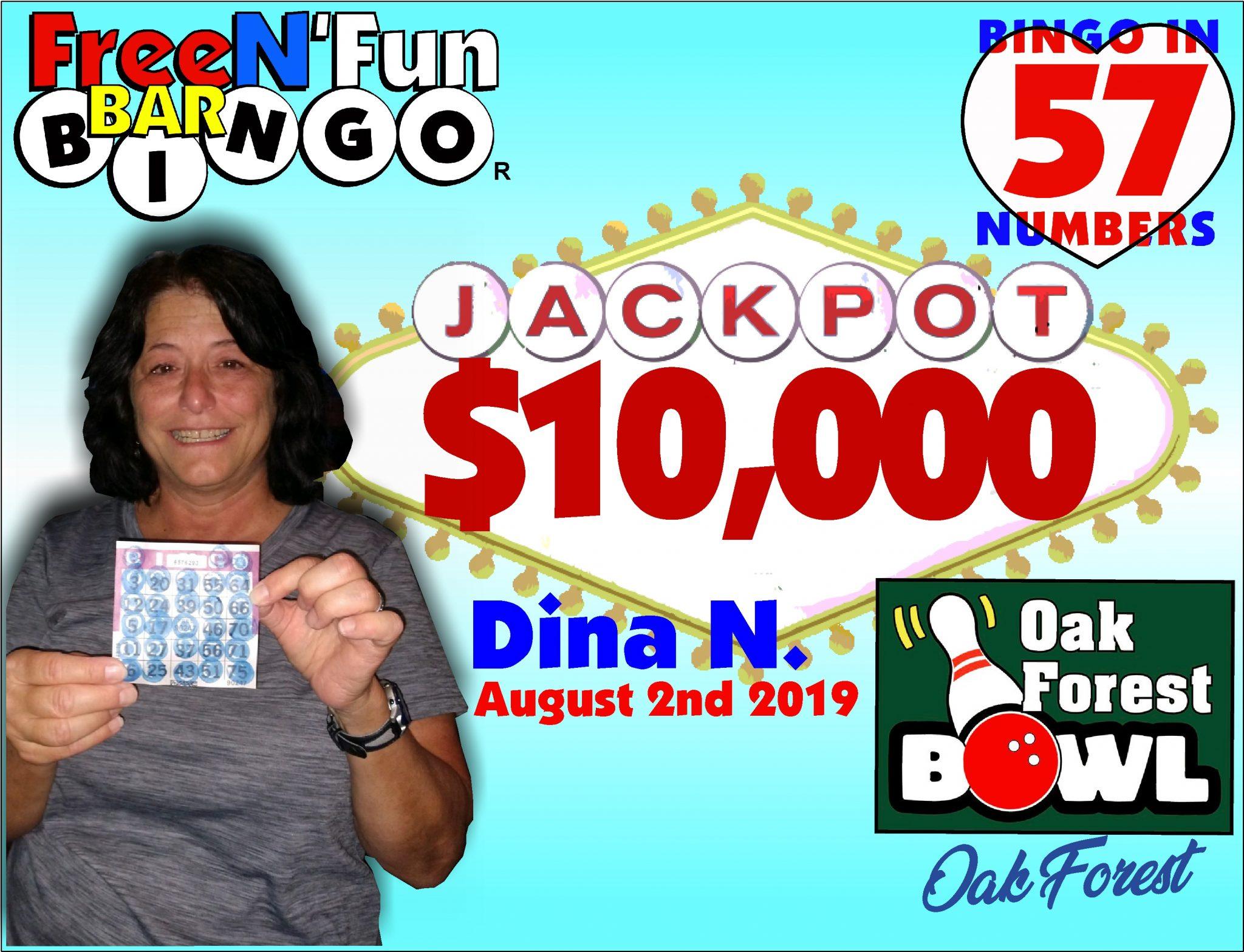 Jackpot Winner 2019 Dina