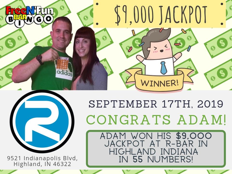 Jackpot Winner 2019 Adam