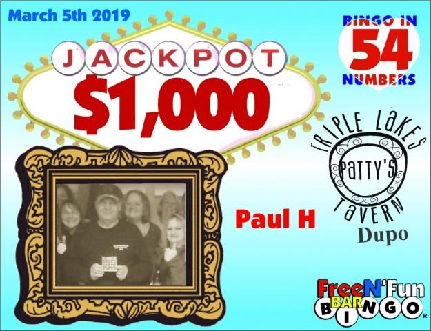 Jackpot Winner 2019 Paul