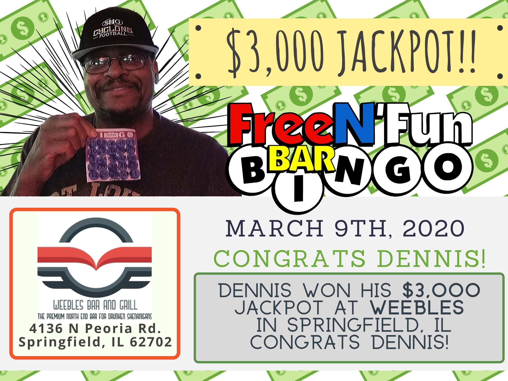 Jackpot Winner 2020 Dennis