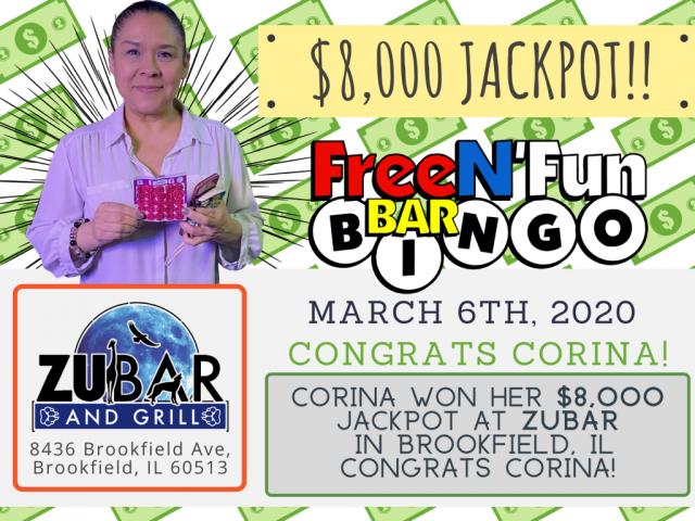 Jackpot Winner 2020 Corina