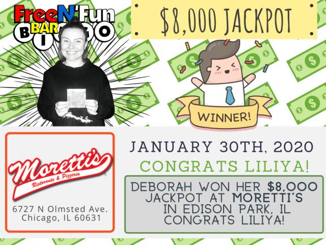 Jackpot Winner 2020 Liliya